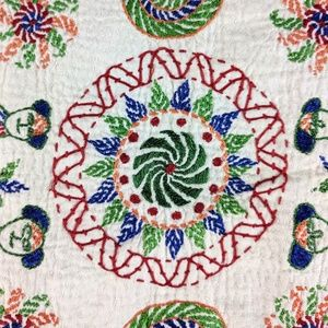 Accents - Throw Pillow Cover Floral Paisley Handcrafted 18""